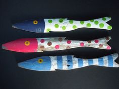 Fish Hand Painted Art Reclaimed Wood by CottageToCabin