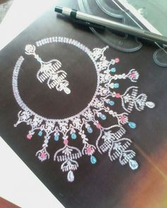 Designed by D R Shinde Jewelry Illustration, Jewellery Sketches, Jewelry Sketch