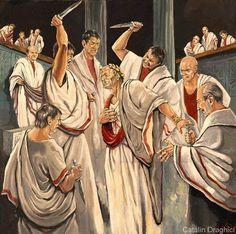 15 martie 44 B.C.ASESINATO DE JULIO CESAR DURANTE LOS IDUS DE MARZO.
