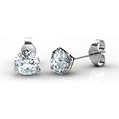 The simple design of the 14KT white gold Setting makes this set of diamond stud earrings stand out from the rest. Accentuating the 0.25CT total weight of two round cut diamonds of I-J color and VS2-SI1 clarity the elegant three-prong design of the studs allow the true beauty of the diamonds to be prominently shown. This classic look will be an addition to any jewelry collection that is sure to bring style and class to any outfit.