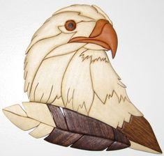 Intarsia #4 Eagle's head