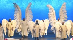 Church production including two pair of archangel costume wings and multiple pair of huge angel wings