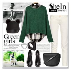 SheIn contest: green knit sweater by parkersam76
