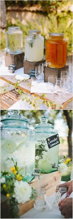 Rustic country wooden crate wedding drink stand ideas / http://www.deerpearlflowers.com/rustic-woodsy-wedding-trend-2018-wooden-crates/ #rusticweddings #countryweddings #weddings #dpf #deerpearlflowers