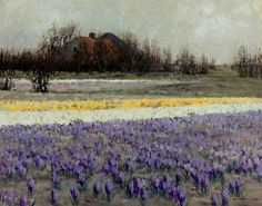 """A field of crocuses,"" George Hitchcock (1815 - 1930)"