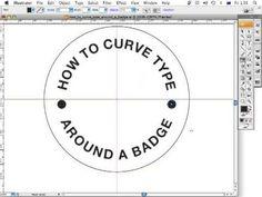 How to curve type around a badge using Adobe Illustrator CS3 - ArtworkExplained.com.au