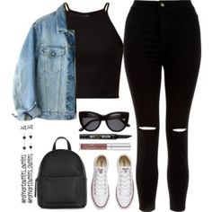 Designer Clothes, Shoes & Bags for Women Cute Comfy Outfits, Stylish Outfits, Cool Outfits, Kpop Fashion Outfits, Swag Outfits, Moderne Outfits, Mode Grunge, Everyday Outfits, Spring Outfits