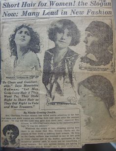 The famous artist Rose O'Neill featured in an article advocating short hair for women.