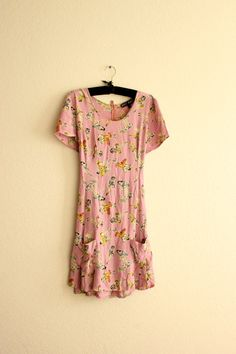 rare pink pin up betsey johnson mini dress  m/l by thezogettie, $125.00