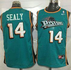 #Pistons #14 #Malik #Sealy Green Nike #Throwback Stitched #NBA #Jersey