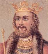 "King Edward II (1307-1327). 18th great-grandfather of Queen Eliz II. House of Plantagenet. Reign: 20 yrs, 2 mos., 14 days. Successor: son, Edward III. He was appointed the 1st Prince of Wales by his father, King Edward I Longshanks. Considered incompetent, frivolous and unduly influenced by his ""favourites"", he was deposed by his wife Isabella & her lover Roger de Mortimer, and murdered in Berkeley Castle, Gloucestershire."