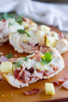 French Bread Hawaiian Pizza - The flavors of Hawaiian pizza served on French bread for a great dinner idea.