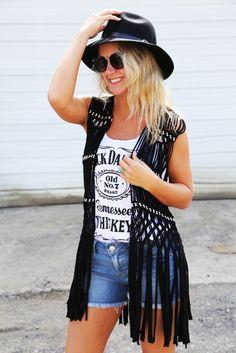 Soho Fringe Vest {Black}