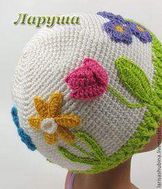 """Купить Детская шапочка """"Весенняя сказка"""". - цветочный, шапка весенняя, шапка осенняя, шапка вязаная"""