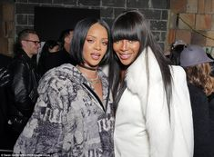 Good company! Supermodel Naomi Campbell came to show support for Rihanna's fashion collection