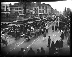 Christmas Parade 1929. Springfield, Illinois. Courtesy of the State Journal-Register