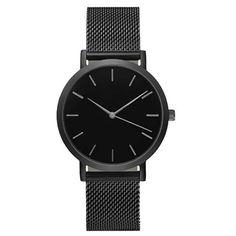 Reloj Pulcera de Acero Inoxidable para cabellero color negro, con cristal azul, resistencia al agua a 3 bares (20m. de profundidad), resistente a golpe, puedes ordenarlos a Yazole SV, U$29.99, #fashion #livingthedreams #elsalvador #men #watches #reloj