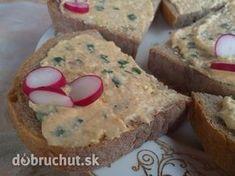 Čertovská pomazánka Czech Recipes, Party Snacks, Finger Foods, Banana Bread, Muffin, Good Food, Appetizers, Cooking Recipes, Favorite Recipes
