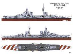 Navy Military, Military Photos, Heavy Cruiser, Capital Ship, Italian Army, Heavy And Light, Ship Drawing, Naval History, Military Diorama