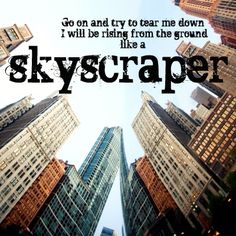 skyscraper by Demi Lovato  ~ most relateable song ever.