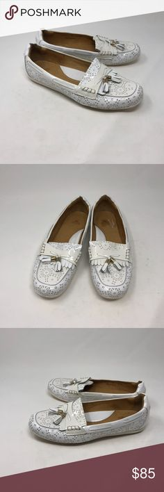 a0050bc768c Peter Millar White Tassel Loafers 9M Make a statement with these white  loafers from Peter Millar with teardrop circle designs and tassels. Size 9m.