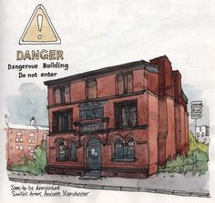 Nina Johansson » Blog Archive » Sketching in Manchester, #2