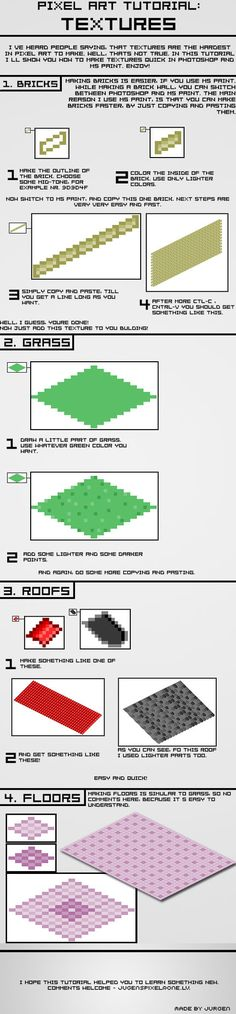 Pixel Art Tutorial - Textures by narvils