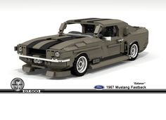 'Eleanor' Shelby Mustang GT500 From 'Gone In 60 Seconds' Recreated With Lego Bricks