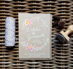River Fabric faire part sur mesure mariage-aquarelle-fleur-coloré-créatif-personnalisé-boheme