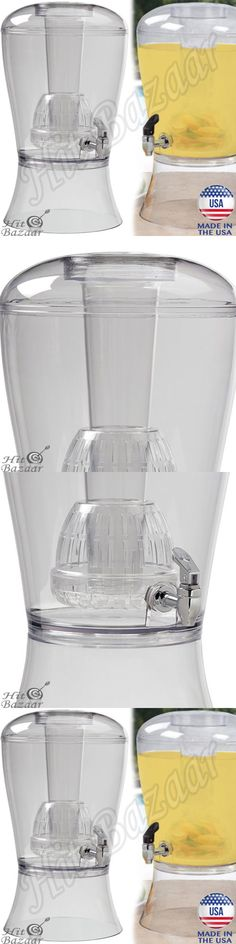 Food And Drink: Beverage Dispenser Unbreakable 3 Gallon Ice Cone Infuser Cold Drink Party Serve -> BUY IT NOW ONLY: $29.85 on eBay!