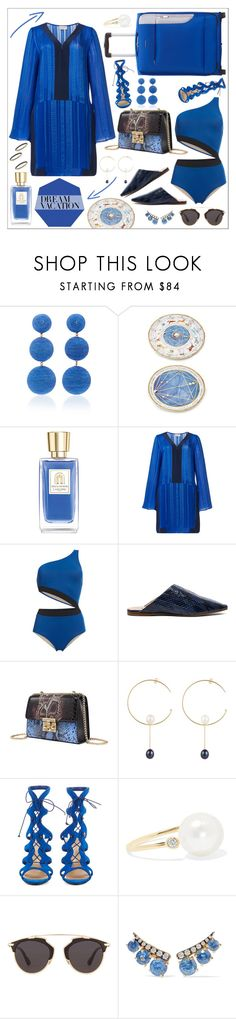 """Dream Vacation"" by cherieaustin ❤ liked on Polyvore featuring Rebecca de Ravenel, Lancôme, Zeus+Dione, Acne Studios, Sweet Pea by Stacy Frati, Christian Louboutin, mizuki, Christian Dior, Jemma Wynne and Blue Nile"