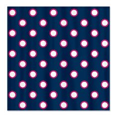 Blue and Pink Dots Shower Curtain