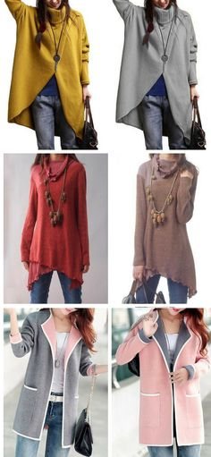 fall outfits, sweater, outerwear, free shipping worldwide, don't miss again at rosewe.com.