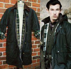 Green BARBOUR GAMEFAIR WAX Jacket Men's UK Sz 38