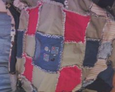 Raggy Quilt...Jeans and kakis with flannel back... complete with several pockets.. Gifted to Donna...