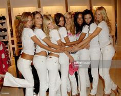 Victoria's Secret models Alessandra Ambrosio, Izabel Goulart, Marisa Miller, Miranda Kerr, Heidi Klum, Selita Ebanks, Adriana Lima and Karolina Kurkova pose at the Victoria's Secret Angels Share Their Favorite Holiday Gift Picks at the Victoria Secret store Hollywood and Highland on November 13, 2007 in Hollywood, California.