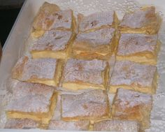 Cremeschnitte (Creme Slices) Recipes from a German Grandma (cream puff filling products) Pastry Recipes, Cake Recipes, Other Recipes, Sweet Recipes, Austrian Recipes, German Recipes, Yummy Treats, Yummy Food, German Desserts