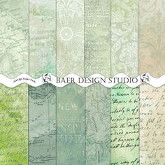 Mixed media paper- these instant download, printable papers work well for mixed media projects because they include map patterns, script patterns, watercolor/textured/distressed grunge backgrounds.