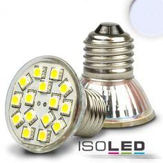 LED E27 Spot, 12V/AC, 15SMD, 2,5 Watt, kaltweiss / LED24-LED Shop