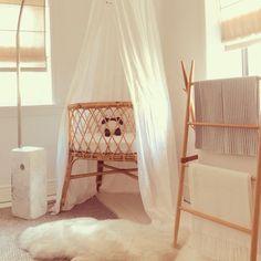 Our beautiful round Lanii bassinet is elegant with a cute hoop like pattern. Foam Mattress, Boho Nursery, Nursery Design, Design Firms, Baby Sleep, Storage Solutions, Interior Styling, Rattan, Kids Room