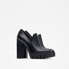 Image 1 of HIGH HEEL LEATHER SHOES WITH TRACK SOLE from Zara