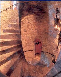 stairways in medieval castles -