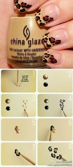Gorgeous Leopard Nail Art Tutorial  | See more at http://www.nailsss.com/acrylic-nails-ideas/2/