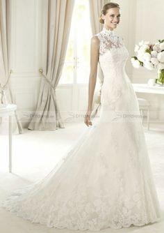 High Neck Lace Wedding Dress&Hochzeitskleid
