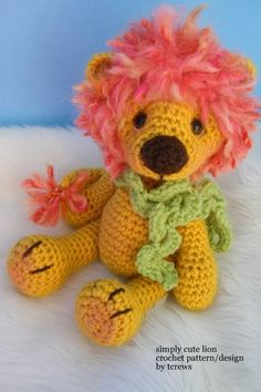 Lion, Simply Cute Crochet Pattern so cute i want to make it
