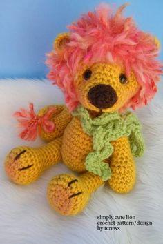 Lion, Simply Cute Crochet Pattern so cute i want to make it