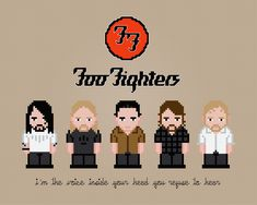 Foo Fighters - PixelPower - Amazing Cross-Stitch Patterns