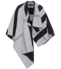 Burberry Prorsum - Wool and cashmere poncho - Easy to style, the poncho is a must-have piece for your new-season wardrobe. Burberry Prorsum's monochrome design is created from a wool and cashmere blend in a black and grey colour palette. Slip it over your shoulders for instant glamour this season. seen @ www.mytheresa.com