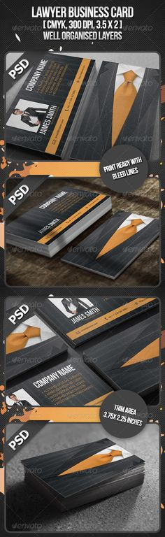 Mindblowing PSD Lawyer Business Card  Template • Only available here ➝ http://graphicriver.net/item/lawyer-business-card/408695?ref=pxcr