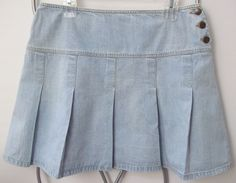 Identity Lord & Taylor Jean Skirt Pleated Women's Size 10 #Identity #JeanSkirt